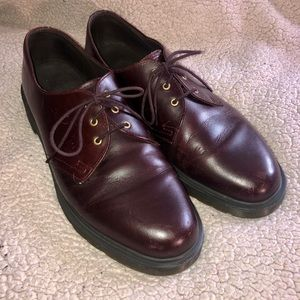 Men's 11 Dr. Martin's brown red burgundy shoes